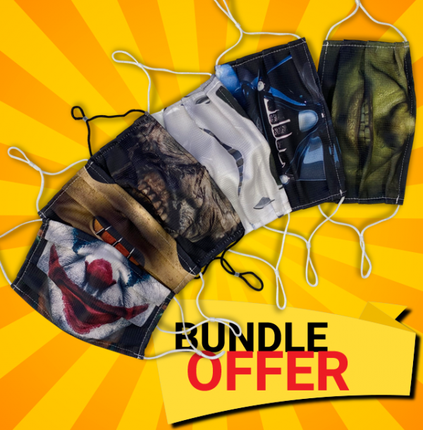 All six face mask designs as a Bundle Offer from the Apocalypse Apparel